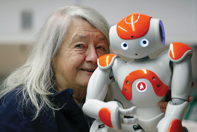 Professor and her robot