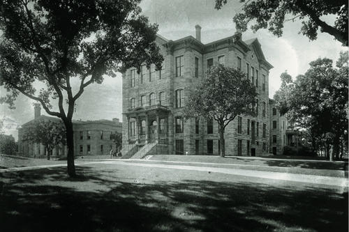 Pillsbury Hall from early years of the University