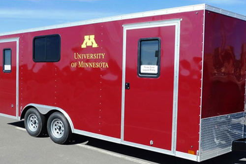The U of M's educational trailer