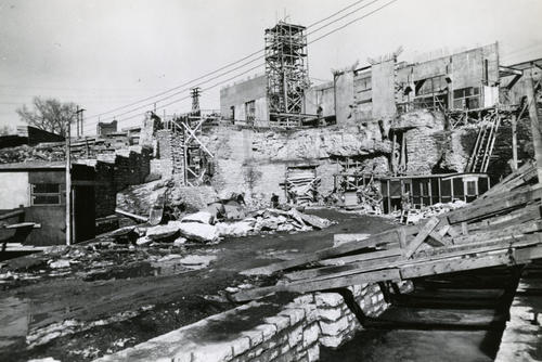 Construction of St. Anthony Falls lab in 1936