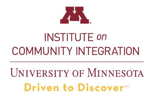 Institute on Community Integrations, Driven to Discover wordmark.