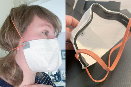 University of Minnesota respirator mask prototype