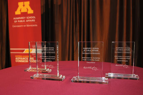 Humphrey School of Public Affairs' awards for Public Leadership Awards.